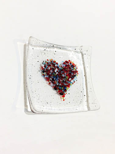 Glass Heart Dish