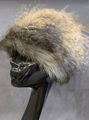 Grey Faux Fur Hat