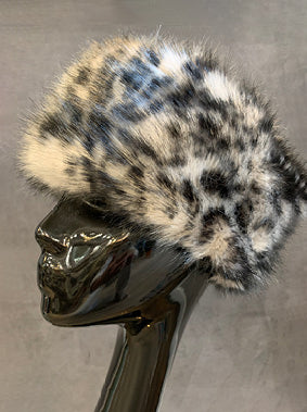 Animal Print Faux Fur Hat
