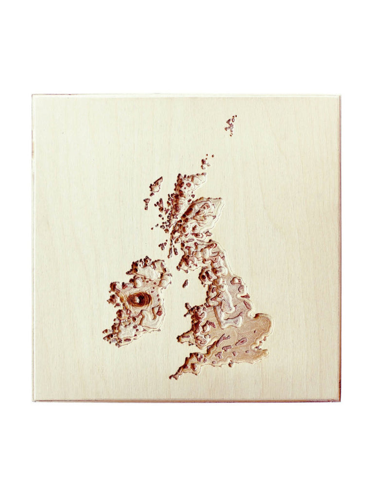 Topographic Wall Map United Kingdom