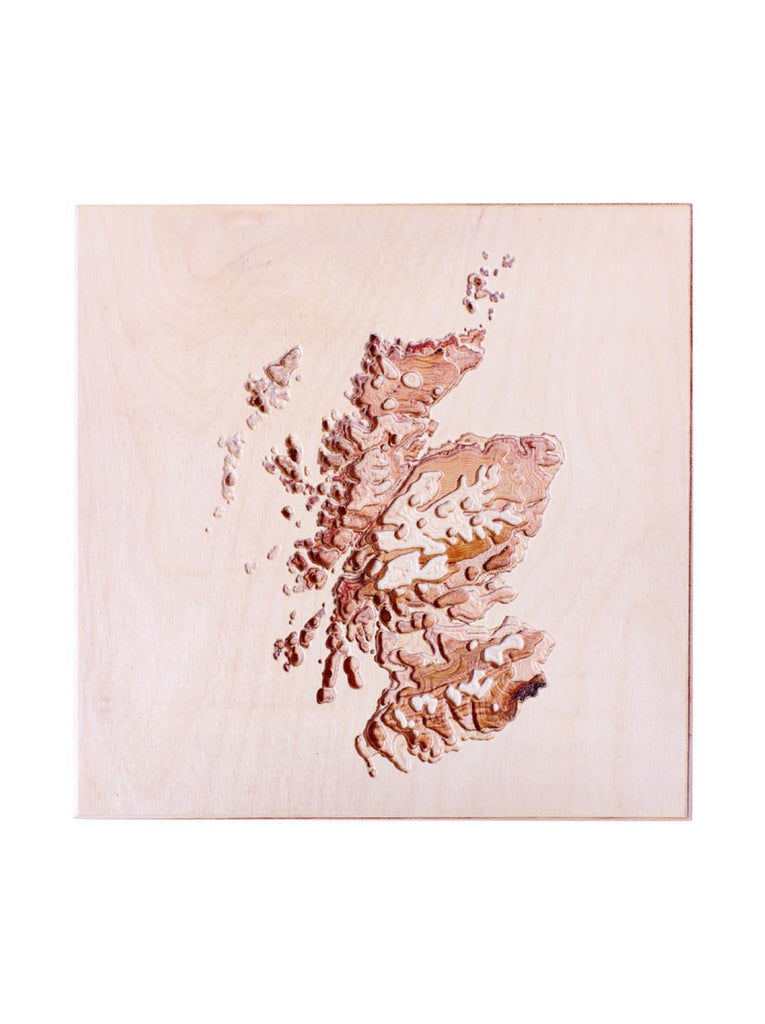 Topographic Wall Map Scotland