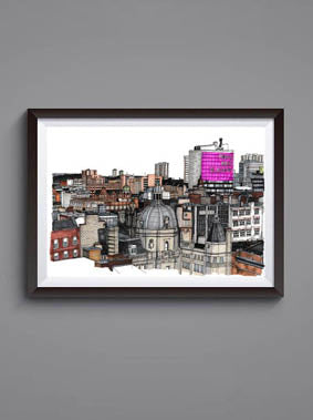 Glasgow Rooftops Print