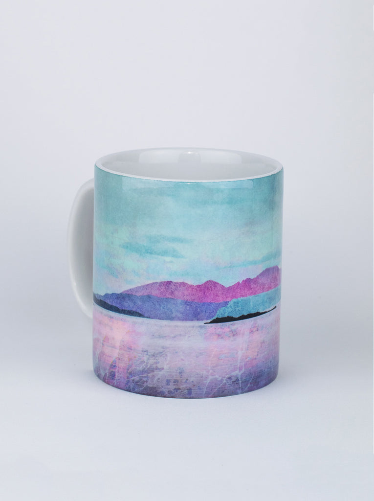Ceramic Mug, Arran Over Sound of Bute