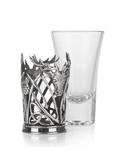 Stag and Thistle Pewter Shot Glass