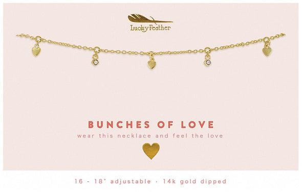 Lucky Feather Bunches of Love Dangle Necklace
