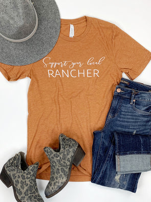 Support Your Local Rancher Tee in Rust