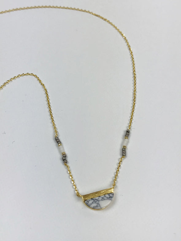 Modern Opus Half Marble Necklace