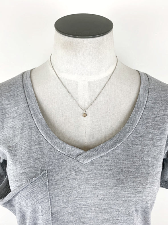 Dainty Disc Initial Necklace