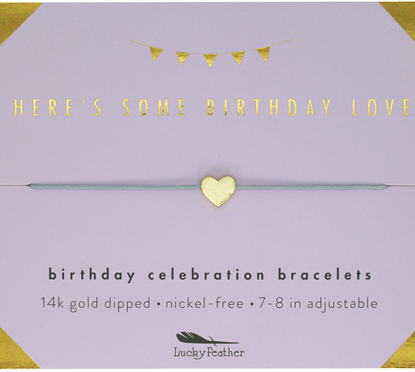 Lucky Feather Birthday Celebration Bracelets