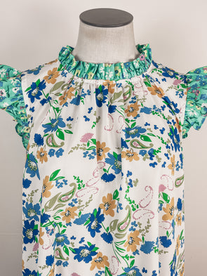 Plaid Shacket in Mustard/Emerald