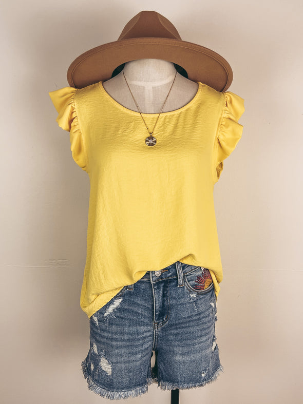 Everyday Flannel Top in Ginger
