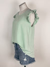 Mystree Racerback Lace Bralette in Charcoal