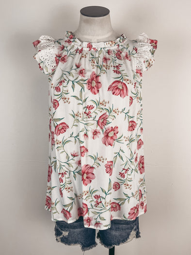 Tassel Trim Off The Shoulder Top in White/Black