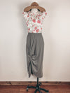 Floral Vibes Front Button Top in Ivory
