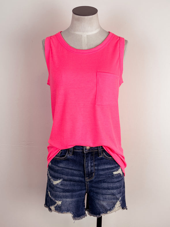Lovely Lemons Tiered Tank in White