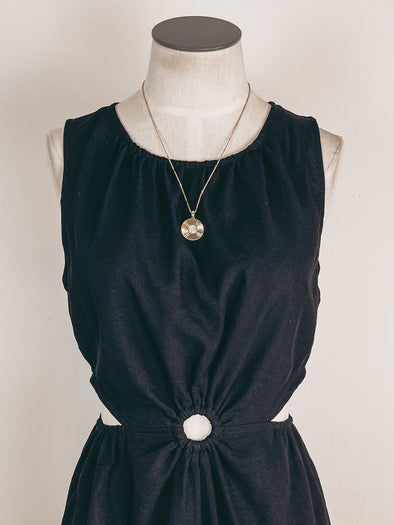 Swiss Dot V Neck Tank in Rust