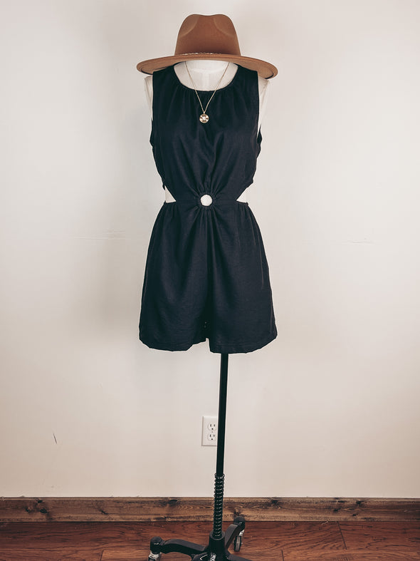 Lace Trimmed Peplum Blouse in Dark Sage