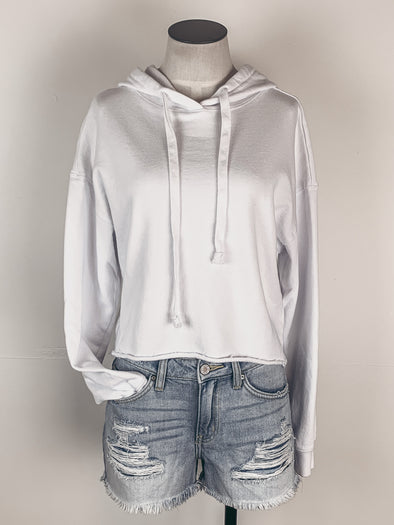 Z Supply Gia Washed Hoodie in White