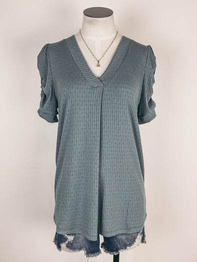Z Supply Easy Modal Tee in Heather Grey