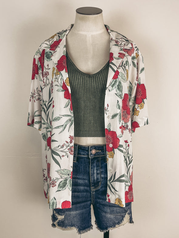 Mystree Modal Contrast Top in Rose