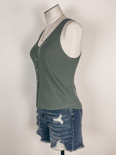 Pleated Top Jumpsuit in Blue/White