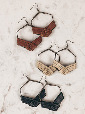 Harvest Hexagon Earrings