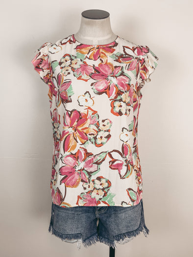 Z Supply Trina Slub Tee in Marigold