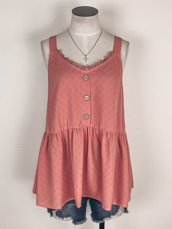 Swiss Dot Blouse w/ Ruffle Sleeves in Off White