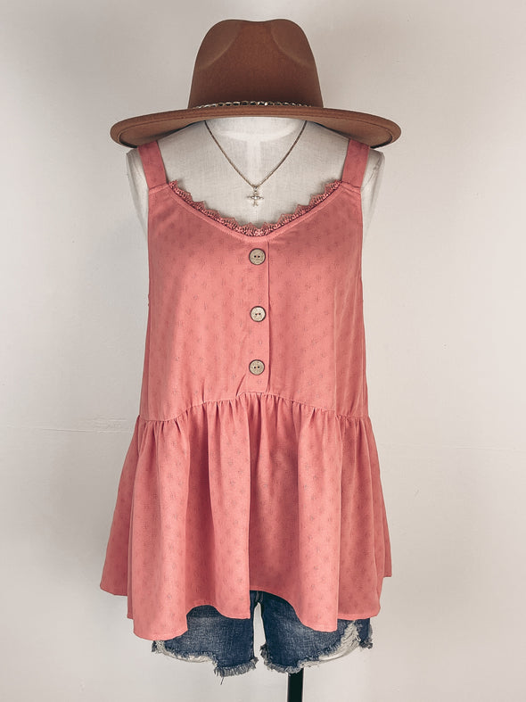 Neutral Printed Yoke Neck Tank in Ivory