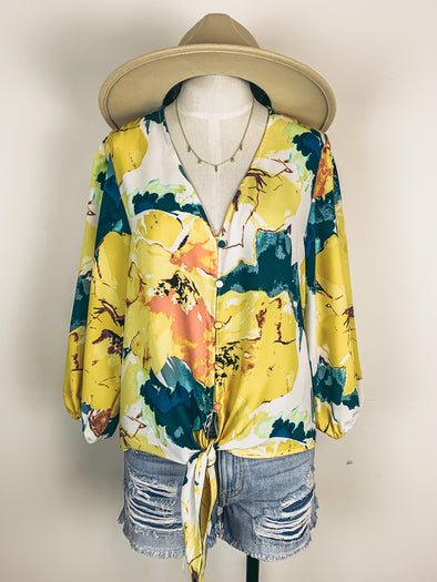 Veronica M Cherise Blouse in Yellow