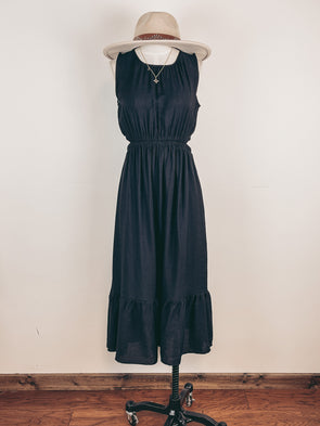 Wide Ribbed Mock Neck Top in Olive