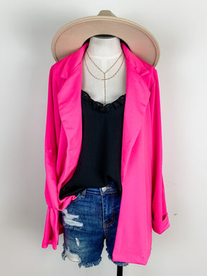 Blazer Jacket in Hot Pink