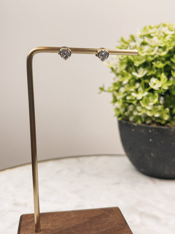 Striped Tee w/ Lace Trimmed Back in Brown/Ivory