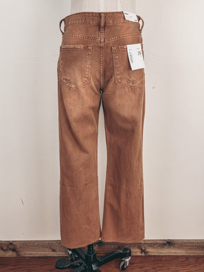 High Neck Dotted Tank in Camel