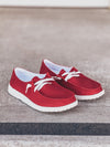 Gypsy Jazz Game Day Slip-on in Red