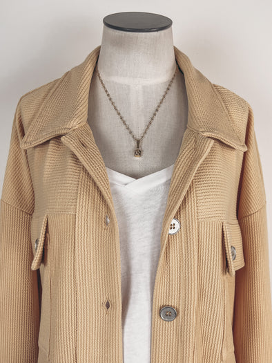 Dear John Emory Blouse in Caramel Dot