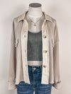 Mystree Cable Knit Chenille Sweater