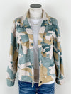 Mystree Pastel Camo Jacket in Mustard Mix
