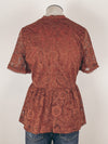 High Neck Lace Top in Rust