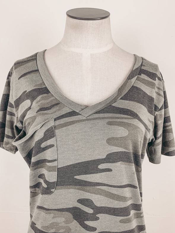 Z Supply The Camo Pocket Tee in Camo Light Sage