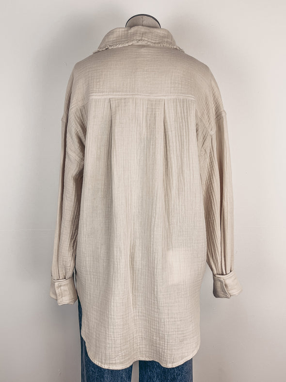 Double Coin Necklace in Gold