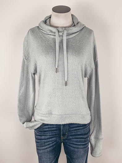 Z Supply Kacey Feather Hoodie in Mint Ash