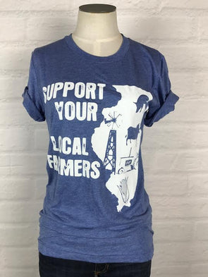 Illinois Support Your Local Farmer Tee *more colors