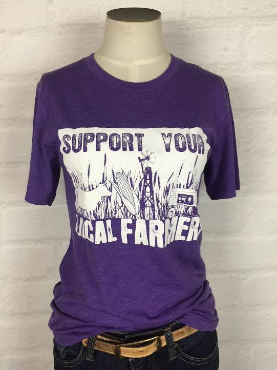 Kansas Support Your Local Farmer Tee *more colors