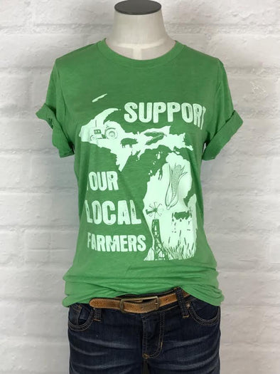 Michigan Support Your Local Farmer Tee *More Colors