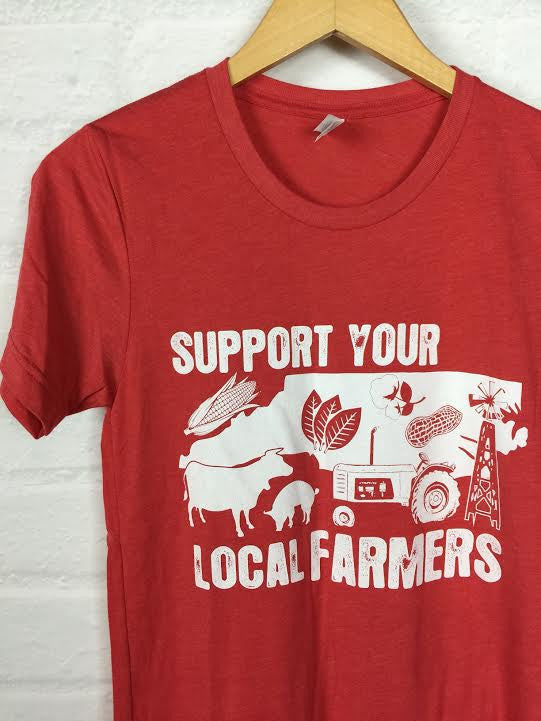 North Carolina Support Your Local Farmer Tee *more colors