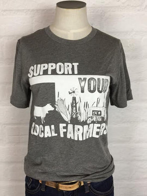Oklahoma Support Your Local Farmer Tee *more colors