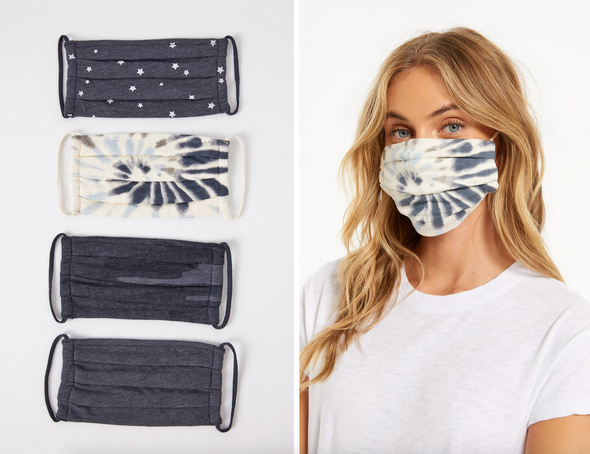 Z Supply Face Masks (4 Pack) in Dusty Navy