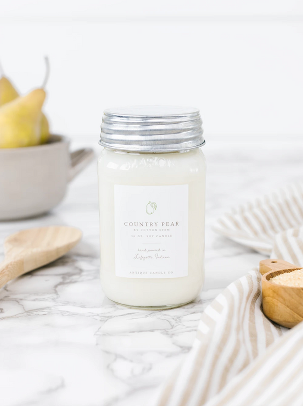 Antique Candle Co. Country Pear by Cotton Stem Candle