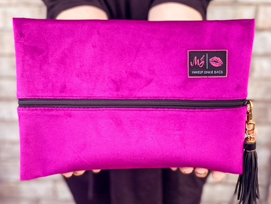 Makeup Junkie Bag - Plum Velvet